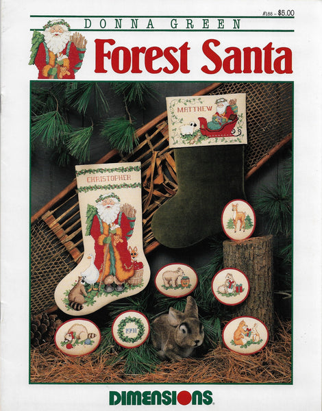 Dimensions Forest Santa 188 christmas cross stitch pattern