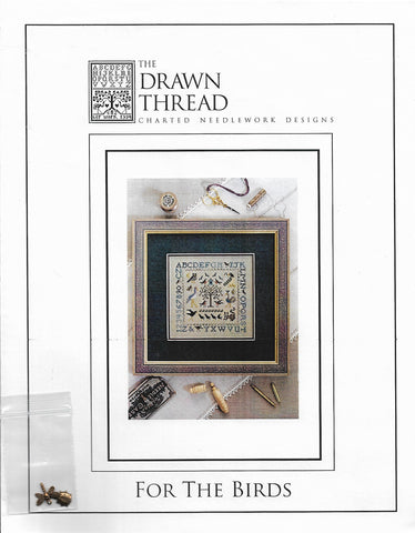 Drawn Thread For the Birds cross stitch sampler pattern