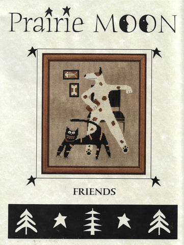 Prairie Moon Friends pet animal cross stitch pattern