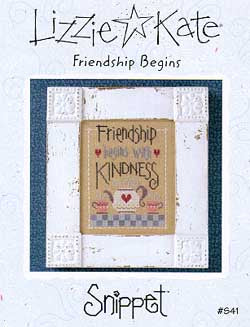 Lizzie Kate Friendship Begins S41 cross stitch pattern
