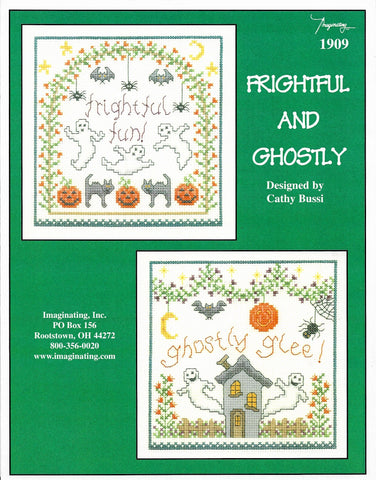 Imaginating Frightful and Ghostly 1909 Halloween cross stitch pattern