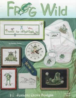 Jeanette Crews Frog Wild cross stitch pattern