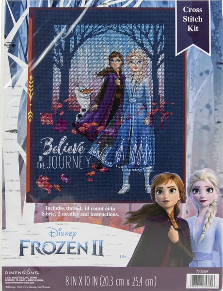 Dimensions Frozen II Believe In The Journey cross stitch kit