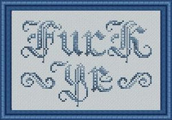 Stitch Bitch Fuck Ye cross stitch pattern