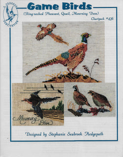 Pegasus Game Birds Ring-necked Pheasant, Quail, Mouring Dove cross stitch pattern