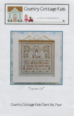 Country Cottage Kids Needleworks Garden Girl CCN4 cross stitch pattern