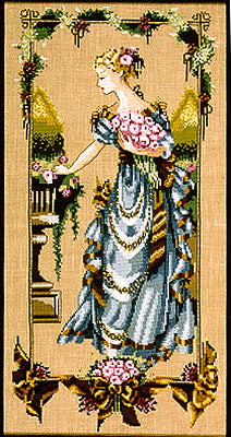 Mirabilia Garden Beauty Nora Corbett MD-86 cross stitch pattern
