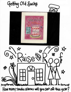 Raise the Roof getting Old Sucks cross stitch pattern