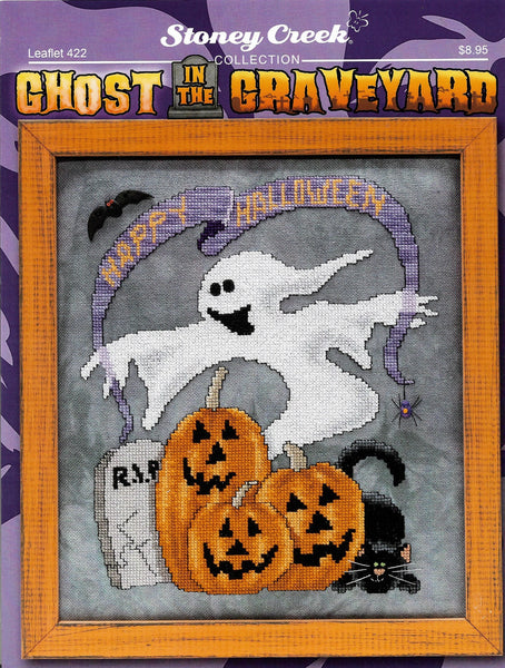 Stoney Creek Ghost in the Graveyard LFT422 Halloween cross stitch pattern