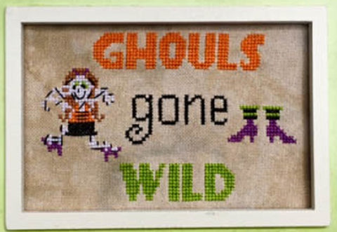 Pickle Barrel Designs Ghouls Gone Wild Halloween cross stitch pattern