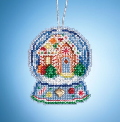 Mill Hill Gingerbread House Globe beaded kit