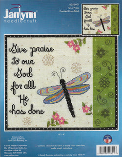 JanLynn Give Praise 005-0901 cross stitch kit