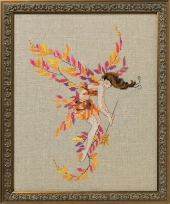 Mirabilia Glittering Leaves NC253 victorian cross stitch