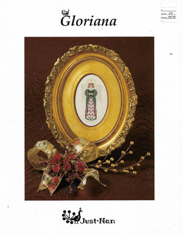 Just Nan Gloriana angel cross stitch patern