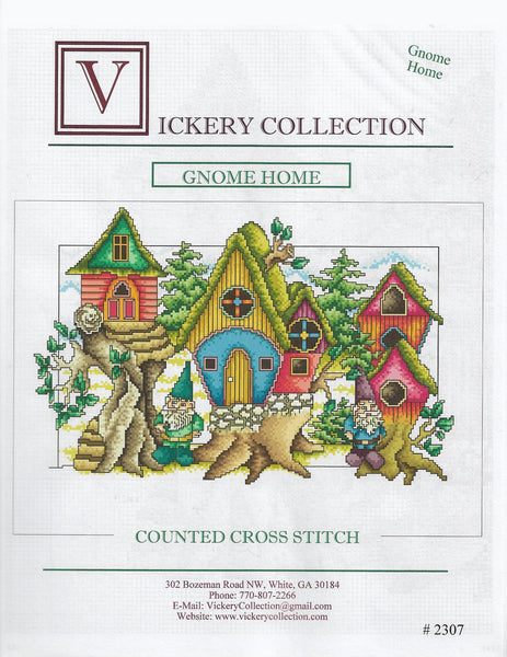 Vickery Collection Gnome Home cross stitch pattern