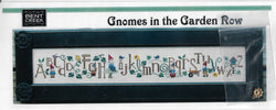 Bent Creek Gnomes in a Garden Row cross stitch pattern