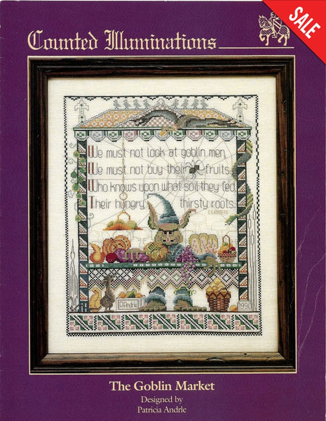 Counted Illuminations The Goblin Market cross stitch pattern