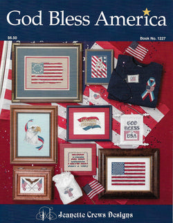 Jeanette Crews God Bless America 1227 patriotic cross stitch pattern