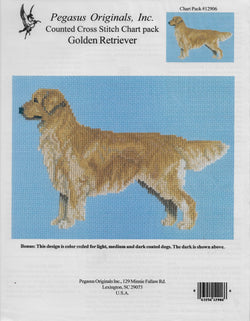 Pegasus Golden Retriever cross stitch pattern