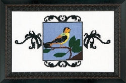 Mirabilia Goldfinch NC184 Bird victorian pixies cross stitch