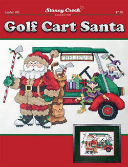 Stoney Creek Golf Cart Santa Christmas LFT193 cross stitch booklet