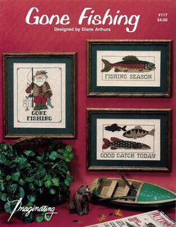 Imaginating Gone Fishing cross stitch pattern