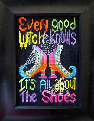 Bobbie G. Designs Every good witch knows it's all about shoes cross stitch pattern