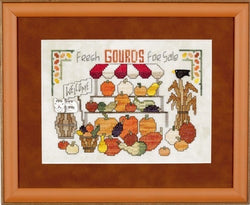 Glendon Place GP-224 Gourds & More Gourds Thnksgiving cross stitch kit
