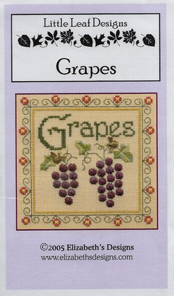 Elizabeth's Designs Grapes cross stitch pattern