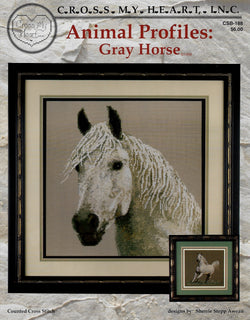 Cross My Heart Gray Horse CSB-188 Animal Profiles cross stitch pattern