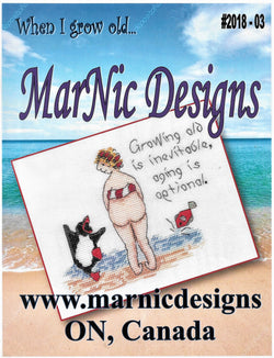 MarNic When I grow old cross stitch pattern