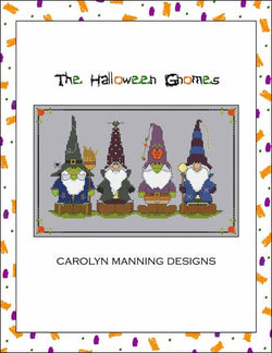 Carol Manning Halloween Gnomes cross stitch pattern