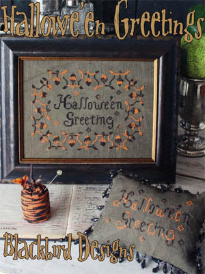 Blackbird Designs Hallowe'en Greetings Halloween cross stitch