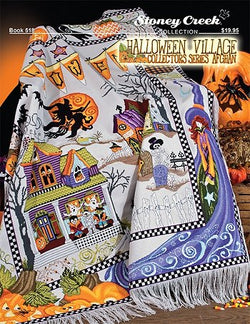 Halloween Village Collectors' Series Afghan BK518 pattern