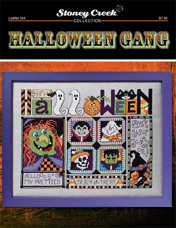 Stoney Creek Halloween Gang LFT344 cross stitch pattern