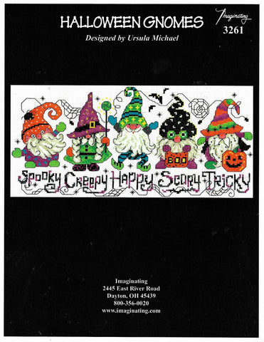 Imaginating Halloween Gnomes 3261 cross stitch pattern