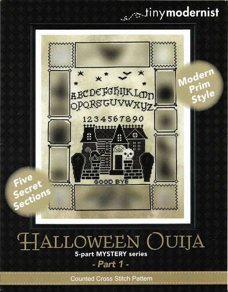 Tiny Modernist Halloween Ouija part 1 cross stitch pattern
