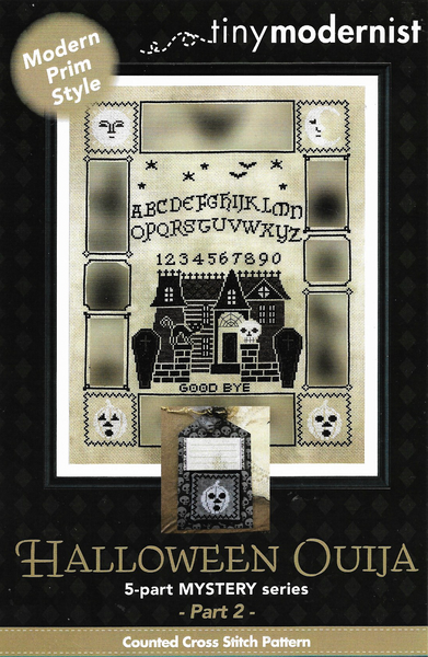 Tiny Modernist Halloween Ouija part 2 cross stitch pattern