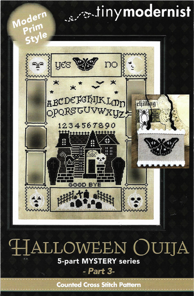 Tiny Modernist Halloween Ouija part 3 cross stitch pattern