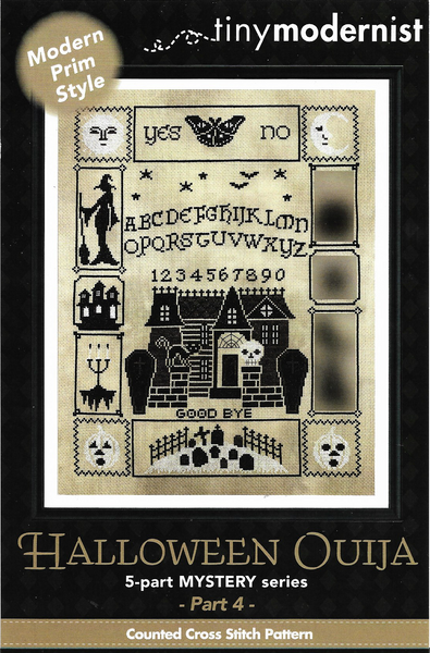 Tiny Modernist Halloween Ouija part 4 cross stitch pattern