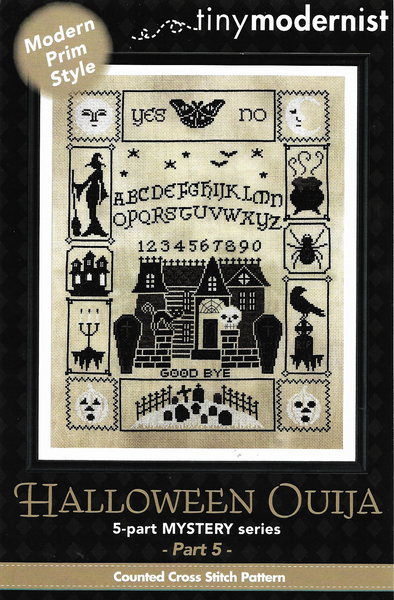 Tiny Modernist Halloween Ouija part 5 cross stitch pattern
