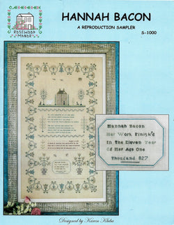 Rosewood Manor Hannah Bacon sampler cross stitch pattern