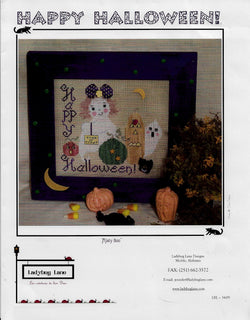 Ladybug Lane Misty Boo Halloween cross stitch pattern
