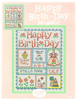 Sue Hillis Happy Birthday for Girls cross stitch pattern