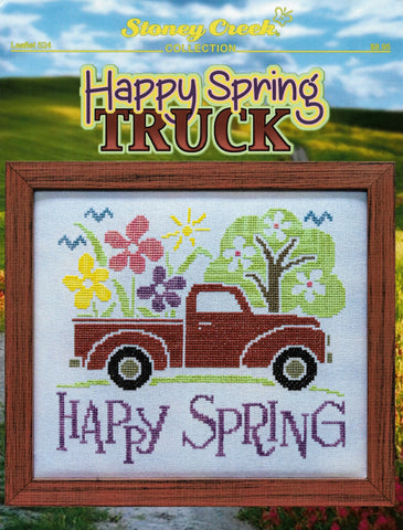 Stoney Creek Happy Spring Truck LFT524 cross stitch pattern