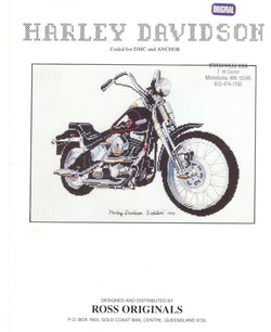"Ross Originals Harley Davidson ""Evolution"" motorcycle cross stitch pattern"