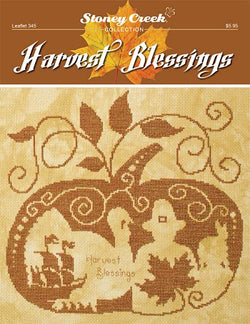 Stoney Creek Harvest Blessings LFT345 Fall cross stitch pattern