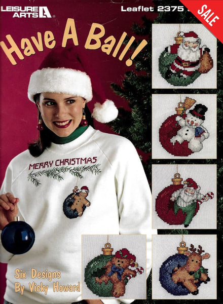 Leisure Arts Have a ball christmas 2375 cross stitch pattern