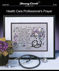 Stoney Creek Health Care Professional's Prayer LFT207 cross stitch pattern