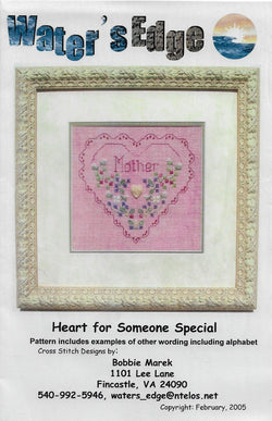 Water's Edge Heart for Someone Special cross stitch pattern